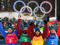 Олимпиада 2018. Лыжные гонки. Мужчины. Эстафета