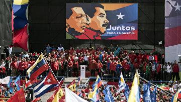 Президент Венесуэлы Николас Мадуро и первая леди Силия Флорес