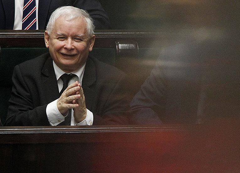 Лидер партии «Право и справедливость» Ярослав Качинский
