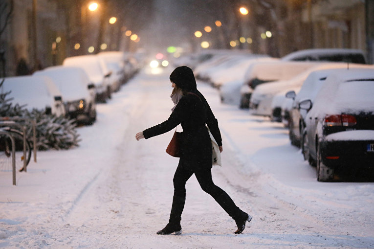 Снегопад в Берлине