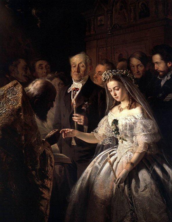 Василий Пукирев, Неравный брак
