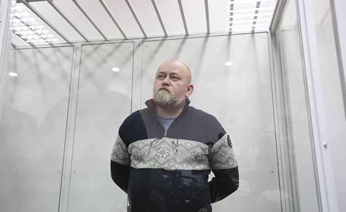Переговорщик Владимир Рубан во время судебного заседания в Киеве