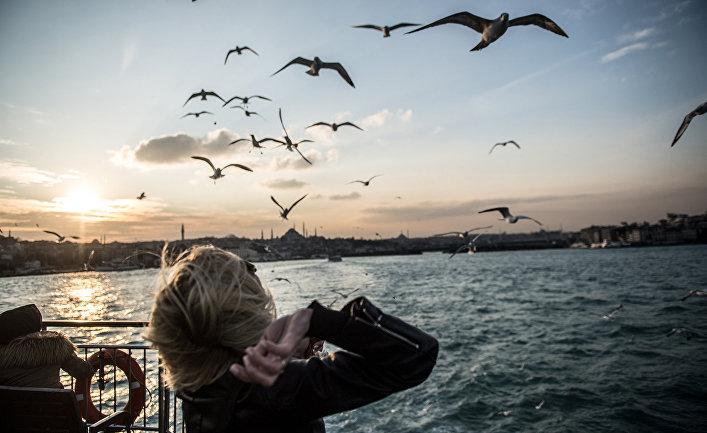 Отдыхающие в Стамбуле, Турция
