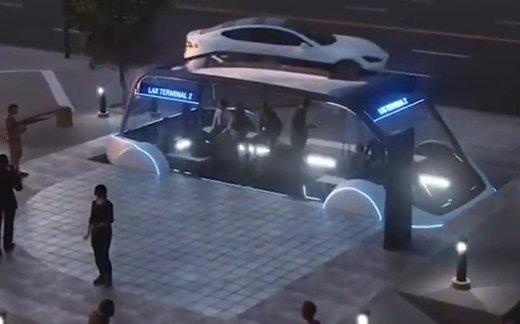 Маск показал подземный электробус