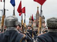 Генеральная репетиция марша, посвященного 76-й годовщине парада 1941 года, на Красной площади в Москве.