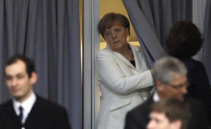 Канцлер Германии Ангела Меркель в Бундестаге