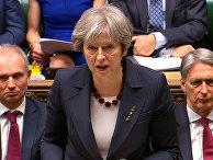 Премьер-министр Великобритании Тереза Мэй во время выступления в парламенте. 14 марта 2018