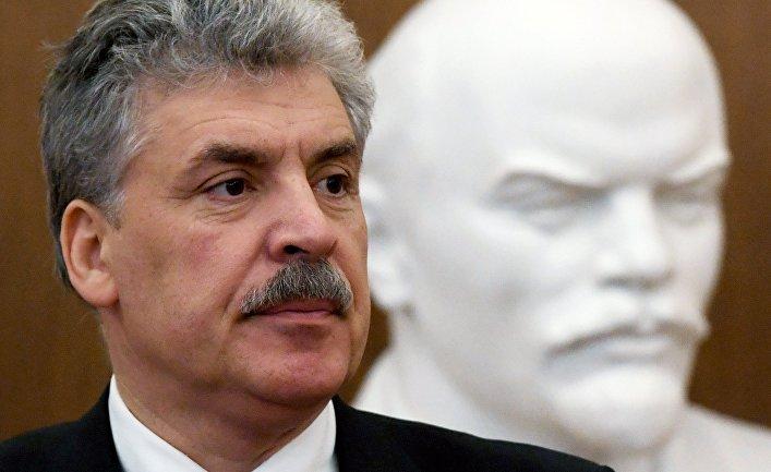 Кандидат в президенты РФ П. Грудинин посетил Казань