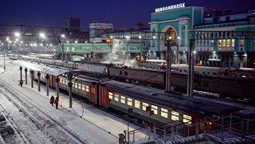 """Пассажирские поезда на станции """"Новосибирск-Главный"""" Западно-Сибирской железной дороги"""
