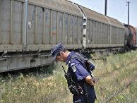Поезд на границе Румынии и Болгарии