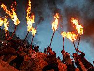 Иракские курды во время празднования Персидского Нового года Норуз