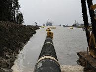 Прокладка газопровода «Северный поток» в бухте Портовая