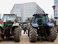 Акция протеста бельгийских фермеров