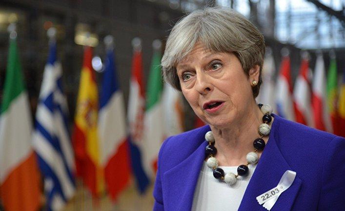 Премьер-министр Великобритании Тереза Мэй на саммите ЕС в Брюсселе