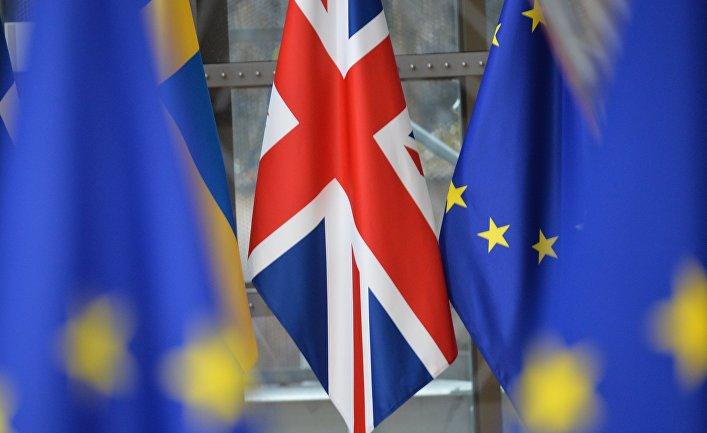 Флаг Великобритании на саммите ЕС в Брюсселе