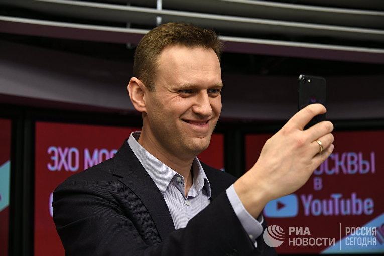 """Алексей Навальный выступил в эфире радиостанции """"Эхо Москвы"""""""