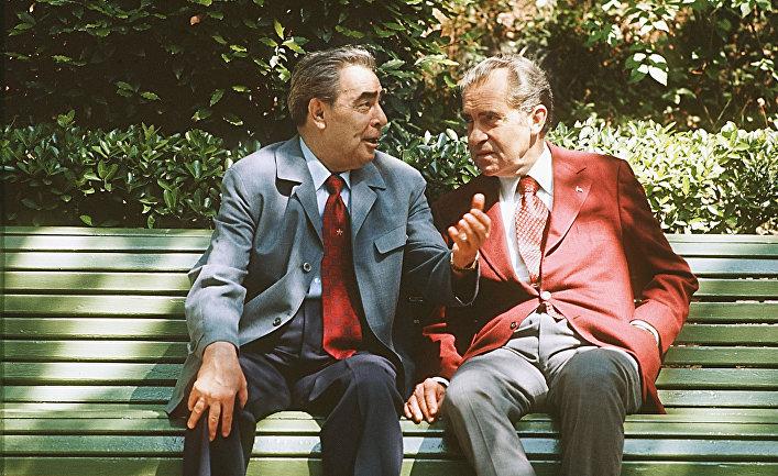 Л.И.Брежнев и Р.Никсон в Крыму