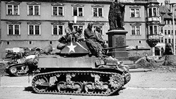 761-й танковый батальон «Черные Пантеры» в Кобурге, 1945