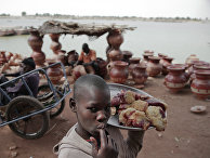 В порту города Мопти в Мали