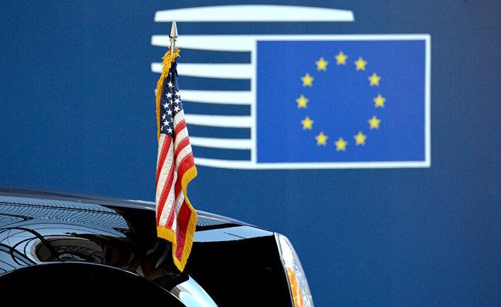 Флаги США и ЕС