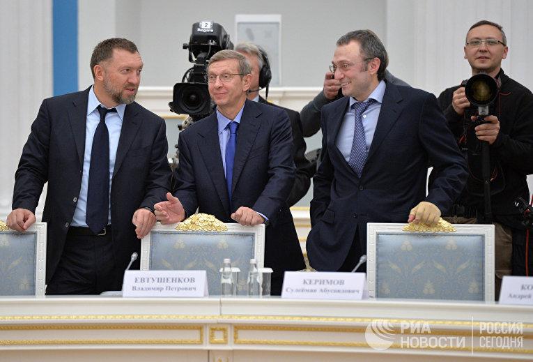 Олег Дерипаска, Владимир Евтушенков и Сулейман Керимов