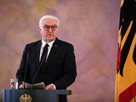 Президент ФРГ Франк-Вальтер Штайнмайер после встречи с канцлером Ангелой Меркель