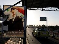 Дорога в аэропорт в Дамаске, Сирия. 14 апреля 2018