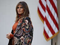 Первая леди Меланья Трамп в Розовом саду Белого дома