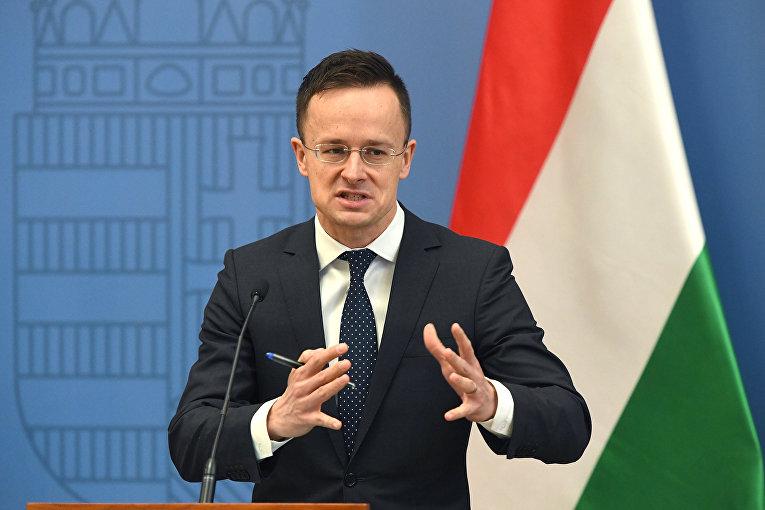 Министр иностранных дел и торговли Венгрии Петер Сийярто