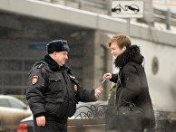 Полицейский на улице Москвы
