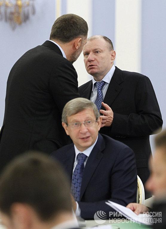 Премьер-министр РФ Д.Медведев провел встречу с членами РСПП