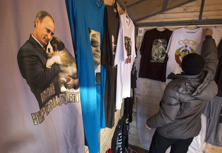 Продажа футболок с Владимиром Путиным