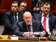 Постпред РФ в ООН Василий Небензя на экстренном совещании по инцеденту в Солсбери. 14 марта 2018