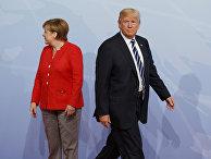 Ангела Меркель и Дональд Трамп на саммите G20 в Гамбурге