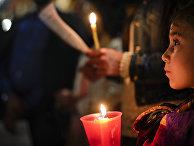 Акция в поддержку Альфи Эванса на площади Святого Петра в Ватикане