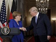 Президент Дональд Трамп и канцлер Германии Ангела Меркель