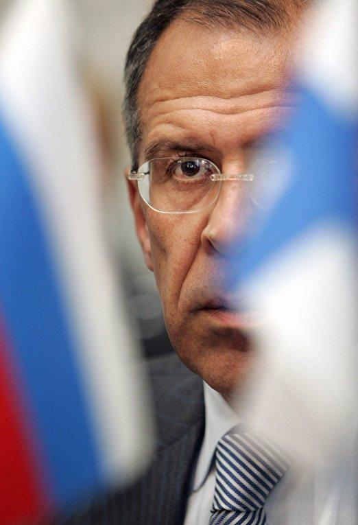 Российский министр иностранных дел Сергей Лавров в Хельсинки, Финляндия