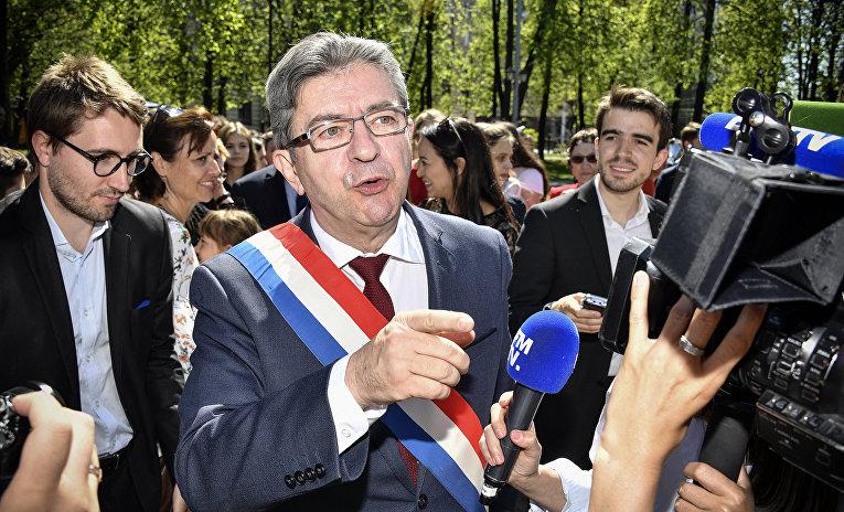 Лидер партии «Непокоренная Франция» Жан-Люк Меланшон в Москве