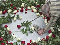 Выживший в нацистком концлагере во время торжественных церемоний