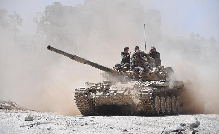 """Сирийская армия освободила лагерь палестинских беженцев """"Ярмук"""" на юге Дамаска"""