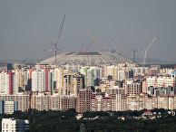 Общий вид на строящийся стадион «Самара Арена»