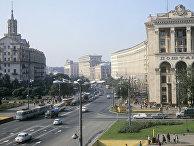 Улица Крещатик в Киеве