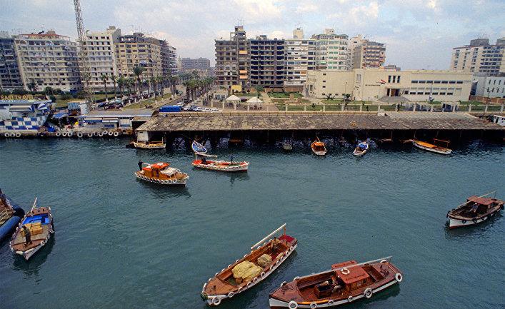 Порт-Саид. Вид на акваторию Суэцкого канала