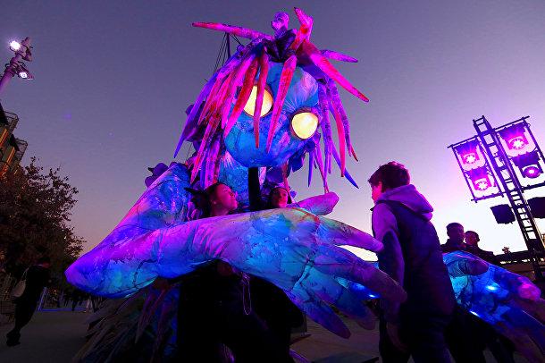 Ежегодный фестиваль света, музыки и идей Vivid Sydney в Сиднее