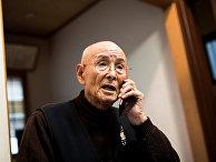 96-летний ветеран, бывший матрос японского императорского флота Куниёси Такимото