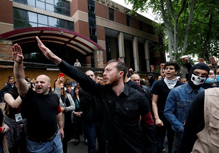 Акция протеста против антинаркотической политики грузинских властей в Тбилиси