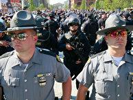 Акция протеста в Кливленде против полицейского произвола и расизма