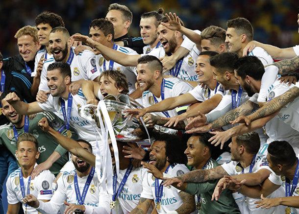 Игроки «Реала» празднуют победу в финальном матче Лиги Чемпионов