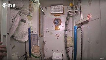 Космический туалет на МКС