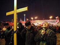 Панихида в память о погибших на Майдане Незалежности в Киеве